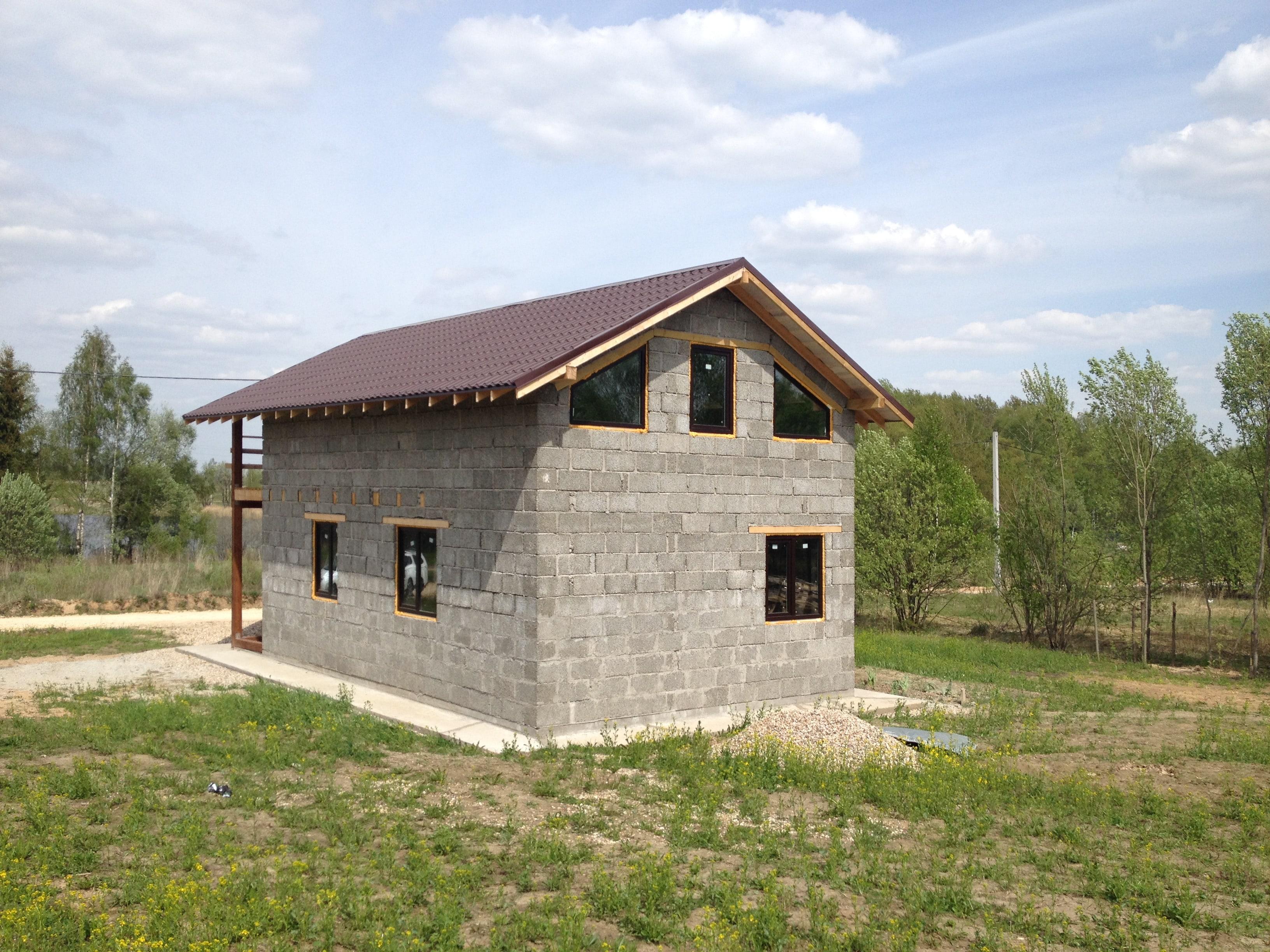 дом из арболита 6х8